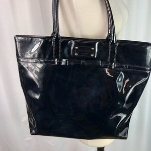 Kate Spade Black Patent Leather Bow Tote